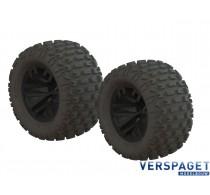 DBoots Fortress SC Tire Set Black -AR550044