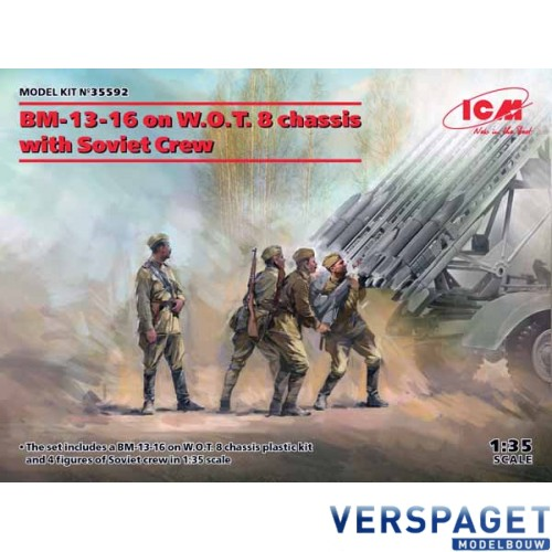 BM-13-16 on W.O.T. 8 chassis with Soviet Crew -35592
