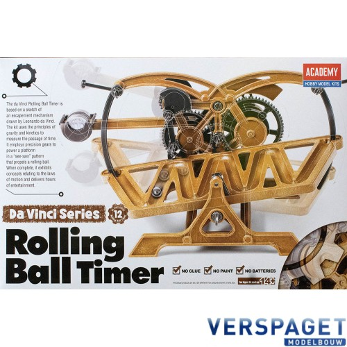 Leonardo da Vinci Rolling Ball Timer -18174