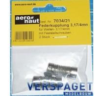 Veer Koppeling 3,17\ 4 mm -AE7034-21