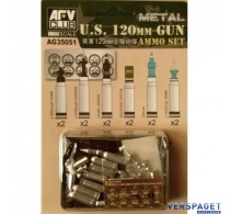 US M1A1/M1A2 M256 120mm Ammo set(Aluminum) -AG35051