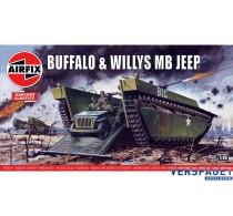 Buffalo &  Willys MB Jeep  -AF02302V