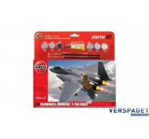 Starter Set - McDonnell Douglas F-15A Eagle & Verf & Lijm & Pensseltjes -AF55311