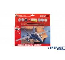 Starter Set - McDonnell Douglas F-18A Hornet & Verf & Lijm & Pensseltjes -AF55313