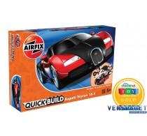 QUICKBUILD Bugatti 16.4 Veyron black/red -J6020