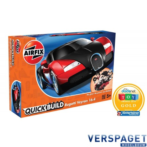 QUICKBUILD Bugatti 16.4 Veyron black/red -J6020