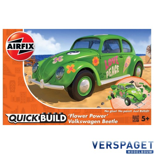 "QUICK BUILD VW Beetle ""Flower Power"" -J6021"