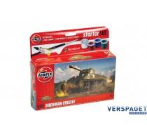 Starter Set  Sherman Firefly & Verf & Lijm & Pensseltjes -AF55003