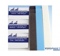 Professional Sanding files Coarse Assorti grit (165mm x 6mm) 3 stuks -541