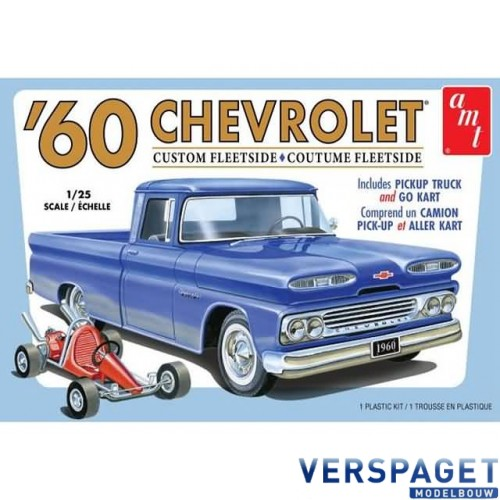1960 Chevy Custom Fleetside Pickup with Go Kart -1063