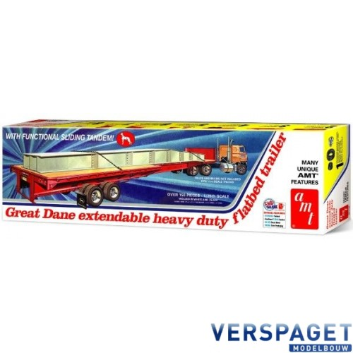 GREAT DANE EXTENDABLE FLAT BED TRAILER -1111