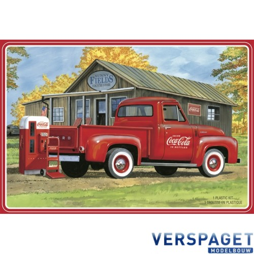 """Ford F-100 """"Coca-Cola"""" Pickup with Diecast Coke Machine and Dolly -1144"""