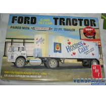 Ford C-900 Tilt Cab Tractor paired with 27 ft. Trailer - 1221