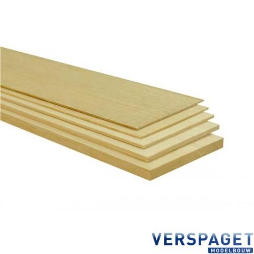 Balsa Plank 10 cm x 100 cm x 2 mm
