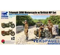 Triumph 3HW Motorcycle w/British MP Set -CB35035