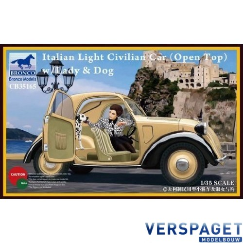 Italian Light Civilian car with Lady and Dog -CB35165
