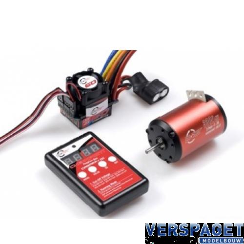 Brushless Motor Carmaxx 3650SL & SL ESC 60 Amp & programmaar Box