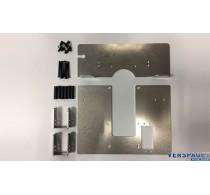 Aluminium grondplaat & accuhouder -907593