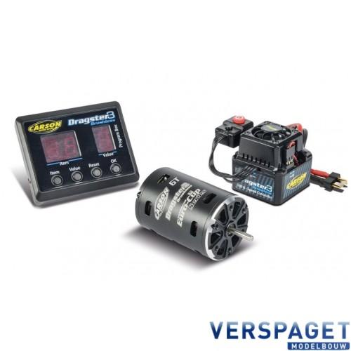 Brushless Motor Dragster 3 & ESC & Programmeerkaart Set  906241