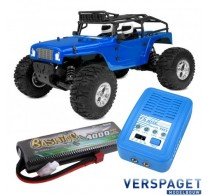 Moxoo SP Sport Power 1/10 Desert Truck & PulseTec mega 50 Snellader & Gens Ace Lipo Accu