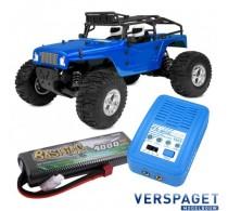 Moxoo SP Sport Power 1/10 Desert Truck & PulseTec mega 50 Snellader & Gens Ace Lipo Accu