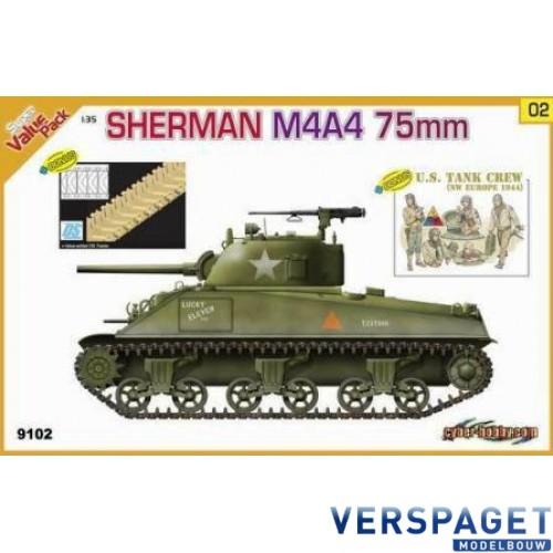 Sherman M4A4 75mm  + Bonus DS Track + Bonus U.S. Tank Crew (NW Europe 1944) -9102