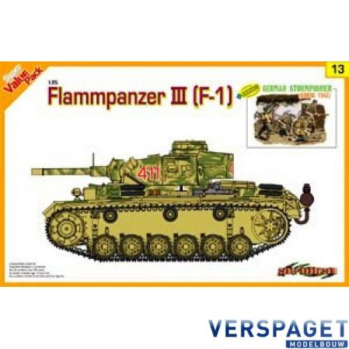 Flammpanzer III (F1)  + Bonus German Sturmpionier (Kursk 1943) -9113