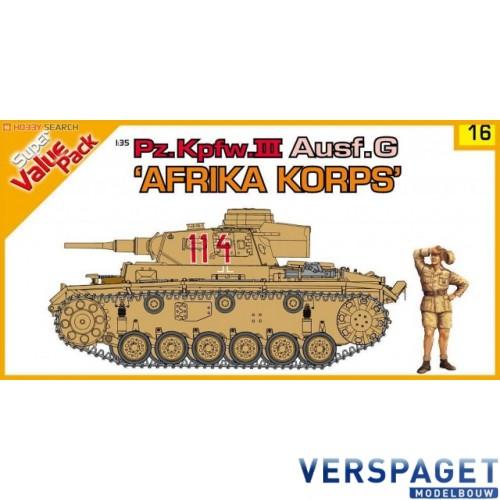 German Pz.Kpfw.III Ausf.G (Africa Korps) and Deutsche Africa Korps figures -9116