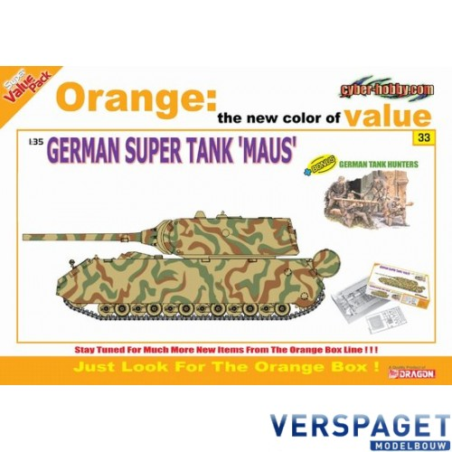 "German Super Tank ""Maus"" + German Tank Hunters Figure Set -9133"