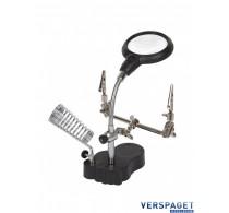 Derde Handje & Loep & LED - Soldeerhouder -007708