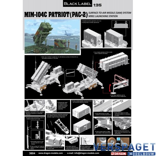 "MIM-104C Patriot Surface-to-Air Missile (SAM) System (PAC-2) - ""Black Label Series"" -3604"