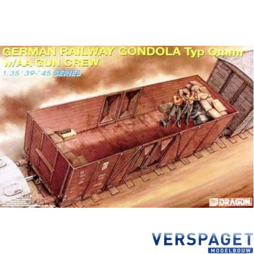 German Railway Gondola Type Ommr with AA Crew -6086