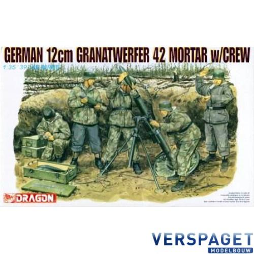 German 12cm Granatwerfer 42 Mortar  w/Crew -6090