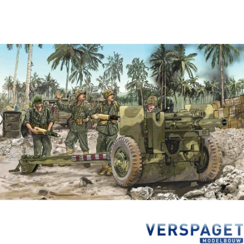 105mm Howitzer M2A1 & Carriage M2A2 w/USMC Gun Crew -6531