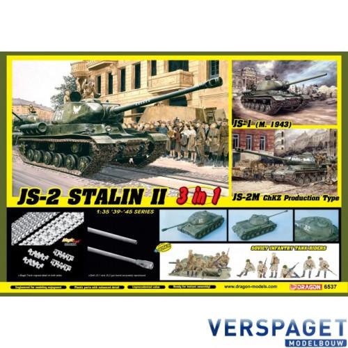 JS-2 Stalin II (3 in 1) + Soviet Infantry Tank Riders -6537
