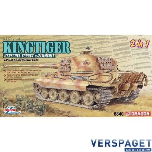 Sd.Kfz.182 Kingtiger  Henschel Turret w/Zimmerit s.Pz.Abt.505 Russia 1944 -6840