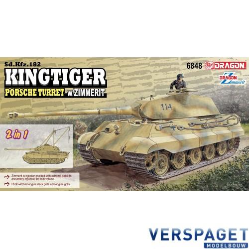 Sd.Kfz.182 Kingtiger  Porsche Turret w/Zimmerit -6848