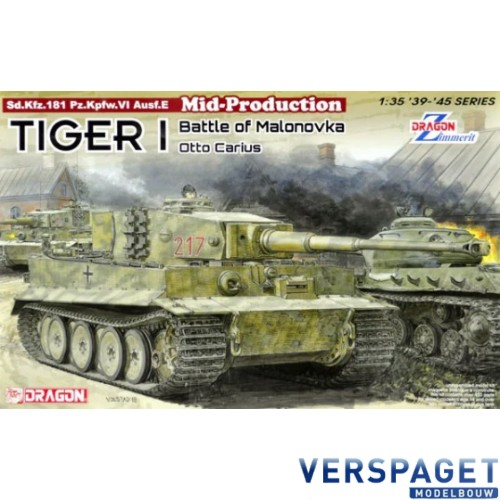 Tiger I Mid-Production w/Zimmerit Otto Carius Battle of Malinava Village 1944 -6888