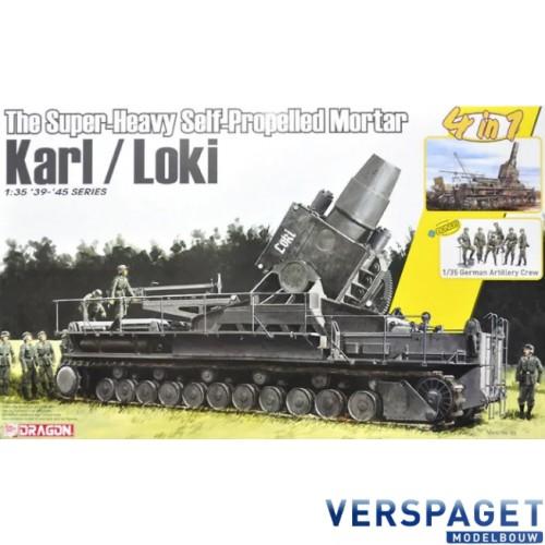 The Super-Heavy Self-Propelled Mortar Karl / Loki w/German Artillery Crew -6946