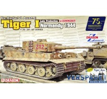 Pz.Kpfw.VI Ausf.E Tiger I Late Production w/Zimmerit (Normandy 1944) + Tiger Ace -6947