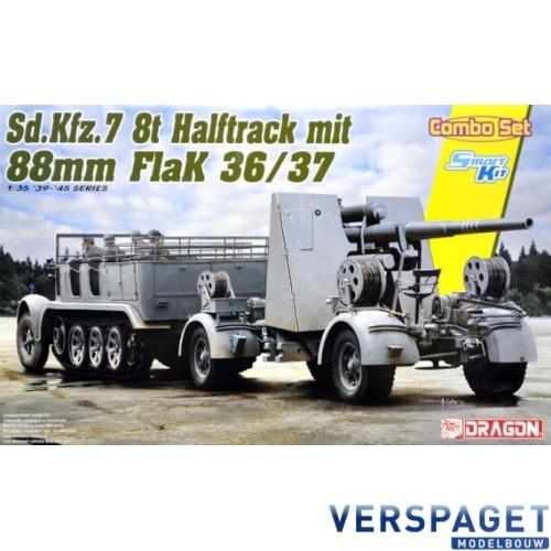 Sd.Kfz 7 8ton Halftrack mit 88mm Flak 36/37 (Combo Set) -6948