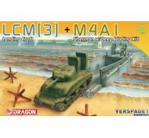 LCM(3) Landing Craft + M4A1 Sherman w/Deep Wading Kit -7516