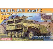 Sd.Kfz.251/7 Ausf.C mittlerer Pionierpanzerwagen or Sd.Kfz.251/10 Ausf.C mittlerer Schützenpanzerwagen (3,7cm Pak) 2 in 1 -7606