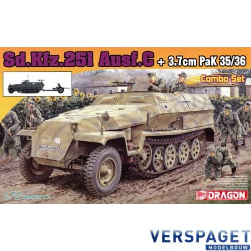 Sd.Kfz.251/1 Ausf.C + 3.7cm PaK 35/36  Combo Set -7611