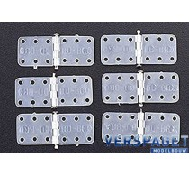 Nylon Scharnier & steel pin Small / 6cs -118
