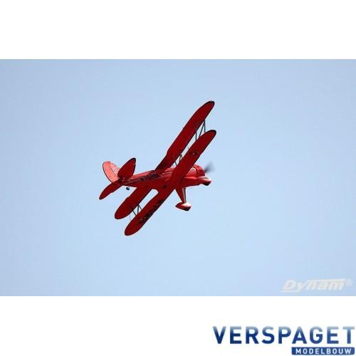WACO WMF-5C Red BI-PLANE Dyn8952Red