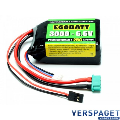 LiFe Battery 3000 - 6.6V 25C -C8354