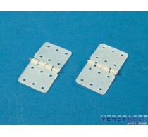 Nylon Scharnier & steel pin 28x15mm / 10pcs -X0340