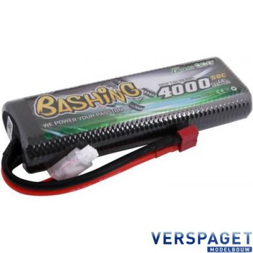 Bashing Series 4000mAh 7.4V 2S1P 50C-100C Hardcase Lipo Batterij - Deans stekker