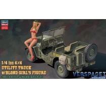 1/4 ton 4x4 Utility Truck w/Blond Girl's Figure -52249